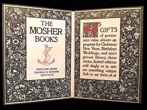 Advertising Diptych for The Mosher Books
