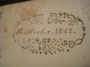 The ownership mark of the sea captain Benjamin Mosher