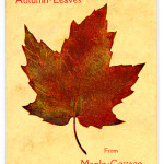 "Books Privately Printed (1892-1923) - ""Autumn Leaves from Maple Cottage"" cover page."