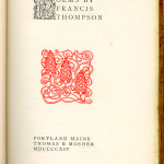 "Miscellaneous Series (1895-1923) - ""Poems by Francis Thompson."" Title page."