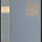 """Miscellaneous Series (1895-1923) - """"Poetical Works of Oscar Wilde"""" with Wilde's plum blossom design. Cover."""