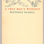 "Miscellaneous Series (1895-1923) - Bertrand Russell's ""A Free Man's Worship."" Cover."
