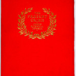 """Miscellaneous Series (1895-1923) - James Russell Lowell's """"The Present Crisis,"""" red Toyogami paper wraps. Cover."""