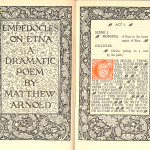 "Miscellaneous Series (1895-1923) - Title opening from Arnold's ""Empedocles on Etna"" using Kelmscott border."