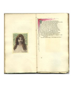 Page 25 Opening with Watercolor Portrait and Initial