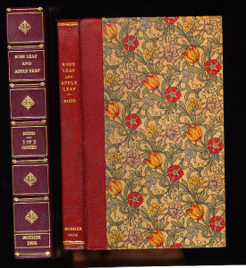 Full leather binding by Bogadus.