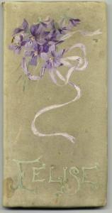 """Illuminated cover on """"Félise: A Book of Lyrics"""" (1894)."""