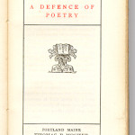 "Vest Pocket Series (1899-1913) - Shelly's ""A Defence of Poetry."""